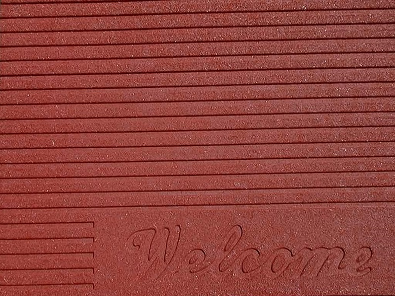 Doormat Ribbed Welcome Burgess Matting