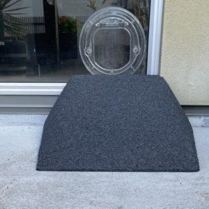 Dog door or cat door ramp